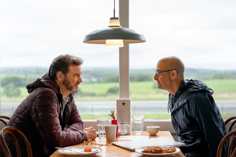 """Colin Firth and Stanley Tucci star in """"Supernova,"""" which had its world premiere atSpain's San Sebastián International Film Festival this week. (Photo: Studiocanal )"""