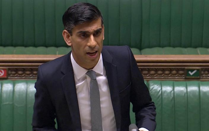 Rishi Sunak delivers his summer economic update to the House of Commons - House of Commons/PA Wire