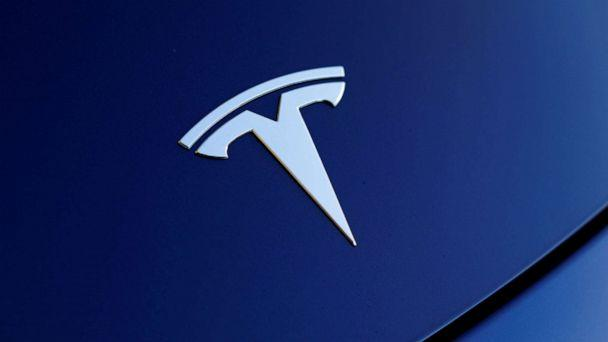 PHOTO: The front hood logo on a 2018 Tesla Model 3 electric vehicle is shown in this photo illustration taken in Cardiff, Calif., June 1, 2018. (Mike Blake/Reuters, FILE)