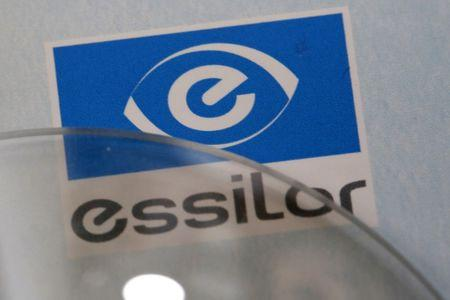 Lens producers Essilor' s logo is seen in an optician shop in Paris, France, March 15, 2016. REUTERS/Philippe Wojazer