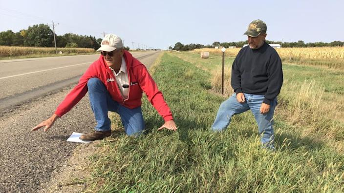 "<div class=""inline-image__caption""><p>Nick Nemec, in red, and his brother, Victor, at the site where their cousin Joe Boever was struck and killed by South Dakota Attorney General Jason Ravnsborg on Sept. 12. </p></div> <div class=""inline-image__credit"">Courtesy Tom Lawrence</div>"