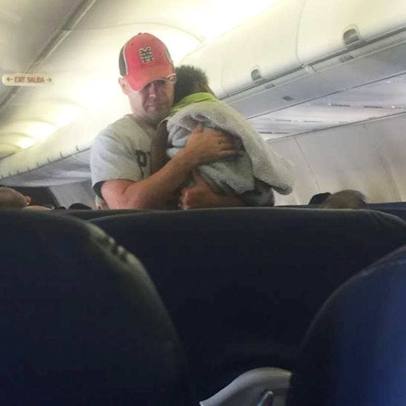 A Pregnant Mom Got Help Soothing Her Crying Baby on a Flight From This Unexpected Stranger