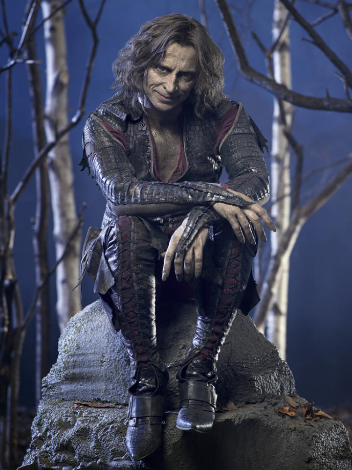 """<p><b>9. Mr. Gold/Rumplestiltskin (""""Once Upon a Time"""") </b><br><br> All his son, Baelfire, ever wanted was for his father to be a decent human being. So when his son begged for a chance at a normal life, it looked like Rumpy might actually give up his dark powers -- but then the dastardly dad changed his mind at the last minute and shoved his son through a portal to live alone. Stay evil <em>and</em> abandon your kid? What a lovely happily ever after.</p>"""
