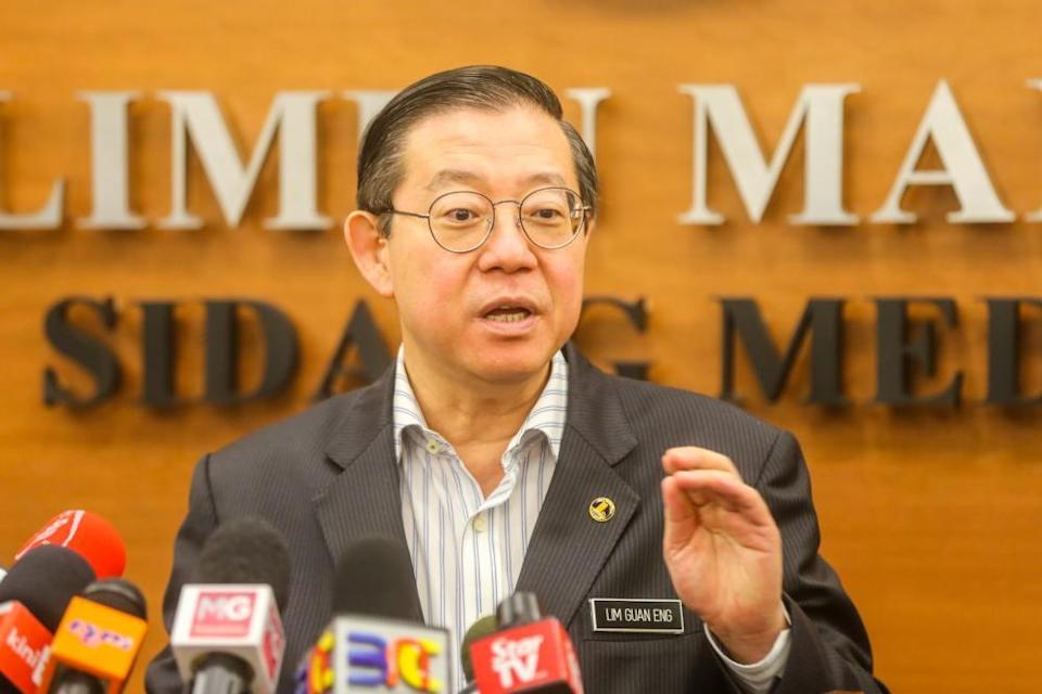 Finance Minister Lim Guan Eng speaks during a press conference at Parliament in Kuala Lumpur October 12, 2019. ― Picture by Firdaus Latif