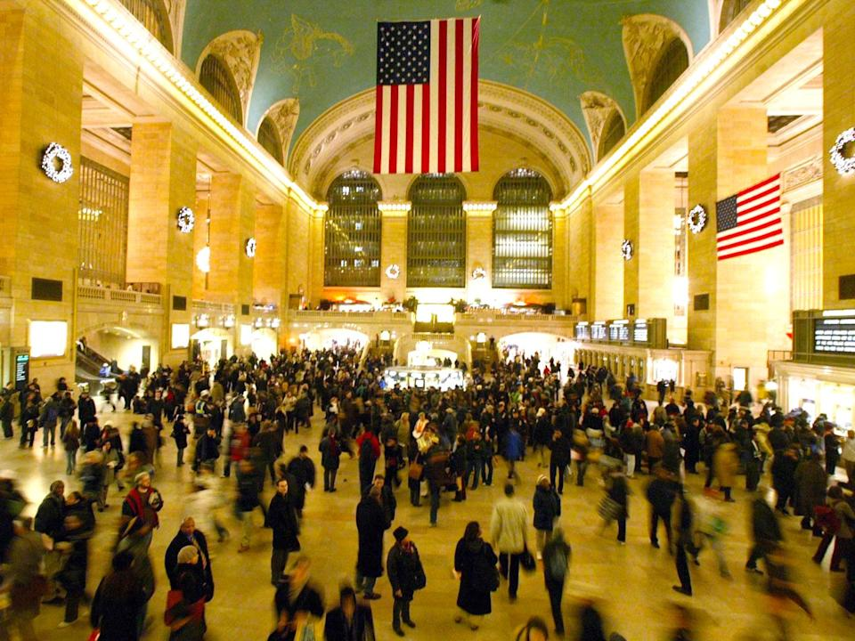 Grand Central Terminal packed with rush hour commuters. (AP)