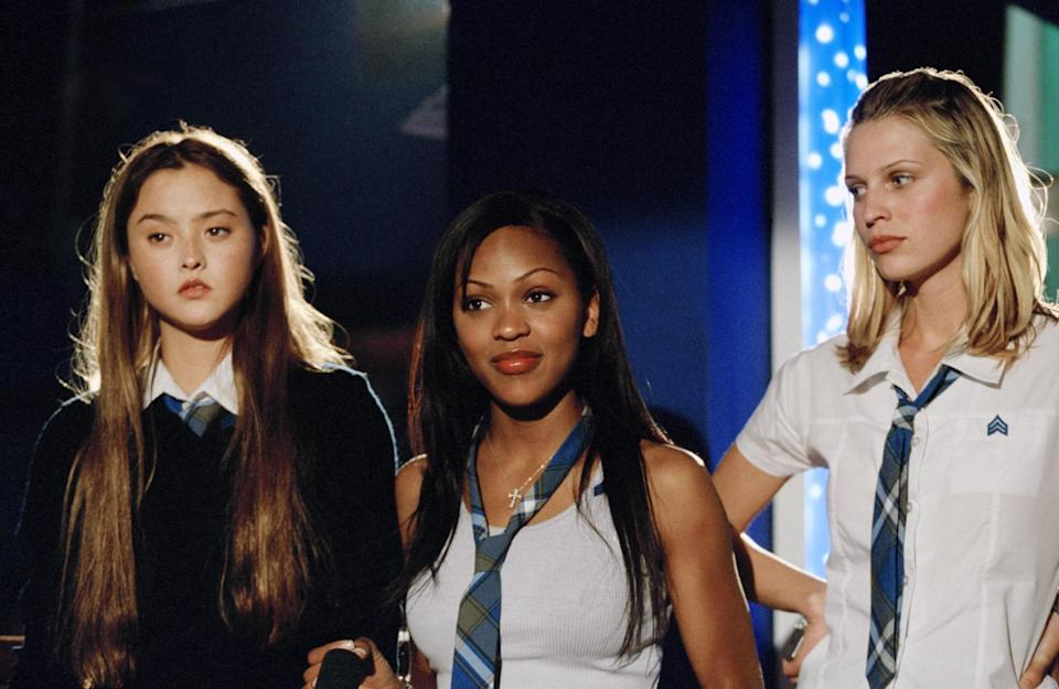 """<p><em>D.E.B.S.</em> was not a hit at the box office or with critics when it came out in 2004, but it has since gained a cult following for its fun and unique story about a group of young female spies-in-training called—you guessed it—D.E.B.S. (It stands for discipline, energy, beauty, and strength.) </p> <p><a href=""""https://www.amazon.com/D-B-S-Sarah-Foster/dp/B000I8JEQK"""" rel=""""nofollow noopener"""" target=""""_blank"""" data-ylk=""""slk:Available to rent on Amazon Prime Video"""" class=""""link rapid-noclick-resp""""><em>Available to rent on Amazon Prime Video</em></a></p>"""