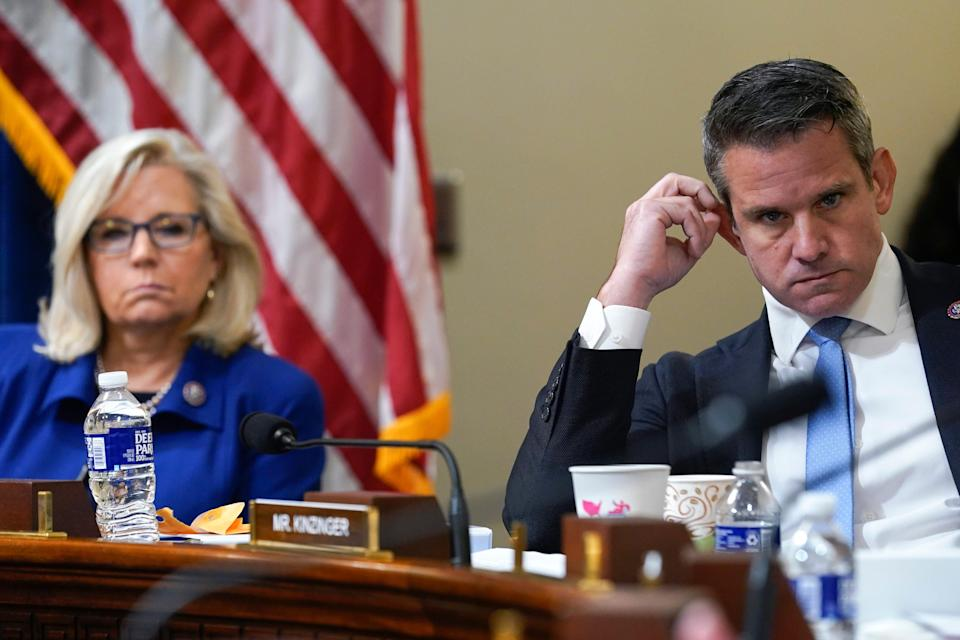Rep. Liz Cheney, R-Wyo., and Rep. Adam Kinzinger, R-Ill., are the only two Republicans on the House select committee investigating the Jan. 6 attack.