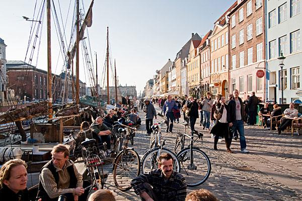 """<b>3. Denmark</b> <br>Highest income tax rate: 55.4% <br>Average 2010 income: $64,000  <br><br>Denmark's top marginal rate has come down from 62.3 percent in 2008 to 55.4 percent today after the government reached a deal to cut taxes worth $4.8 billion in 2009 to boost the economy. But the country still has the world's third-highest income tax rate. <br><br>Denmark's current top tax rate kicks in at $76,000. Dividend income and capital gains are generally taxed between 28 percent and 42 percent, while some share types can be taxed at rates up to 51.5 percent. Members of the Danish church are also liable to a tax of 0.4 percent to 1.5 percent. Other notable taxes include a real estate tax of between 1 percent and 3 percent of a property's value, while gifts to close relatives over a certain threshold are subject to a 15 percent tax.  <br><br>Denmark has gradually <a href=""""http://www.oecd.org/document/47/0,3746,en_2649_34533_47423855_1_1_1_1,00.html"""">decreased the tax and social security burden</a> on incomes over the last decade, according to the OECD. The tax wedge, which is income tax as a percentage of total labor costs, decreased for all families as a result of tax cuts implemented from 2000 to 2011. Single Danes with average-to-high income have benefited the most from the tax cuts.<br><br>Pictured: Copenhagen"""