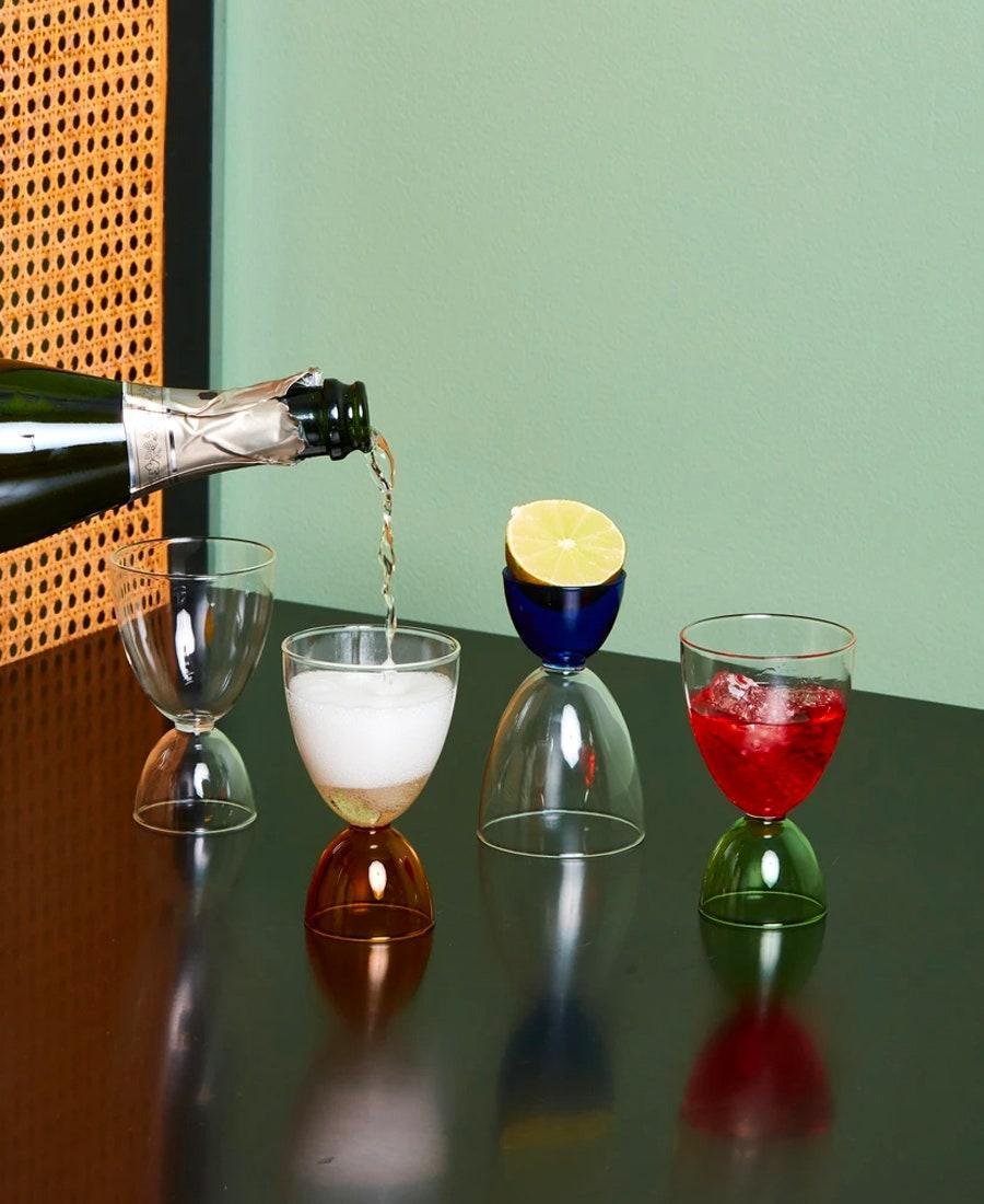 """Behold the multipurpose alternative to Champagne flutes, tumblers, and wine glasses. The larger cup holds 7 ounces, making it perfect for Prosecco, while the smaller, 2-ounce cup can be used to measure ingredients for their favorite cocktails. $28, Coming Soon. <a href=""""https://comingsoonnewyork.com/products/cocktail-glasses"""" rel=""""nofollow noopener"""" target=""""_blank"""" data-ylk=""""slk:Get it now!"""" class=""""link rapid-noclick-resp"""">Get it now!</a>"""