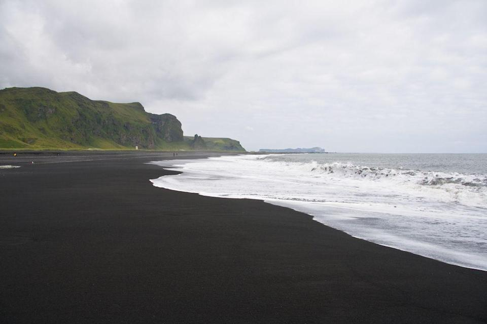 <p>Black sand beach in Vik, Iceland // August 1, 2011</p>