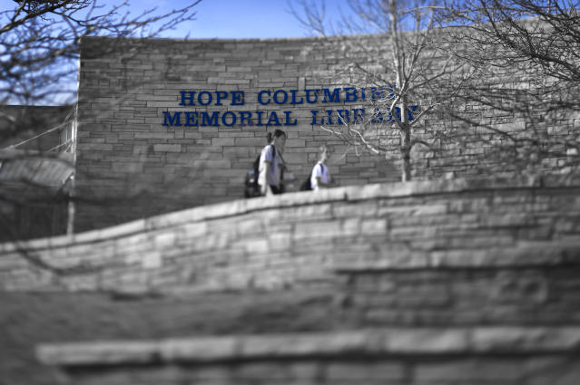 The Hope Columbine Memorial Library at Columbine High School, Littleton, CO was built following the shootings on April 20, 1999. (Craig F. Walker via Getty Images)
