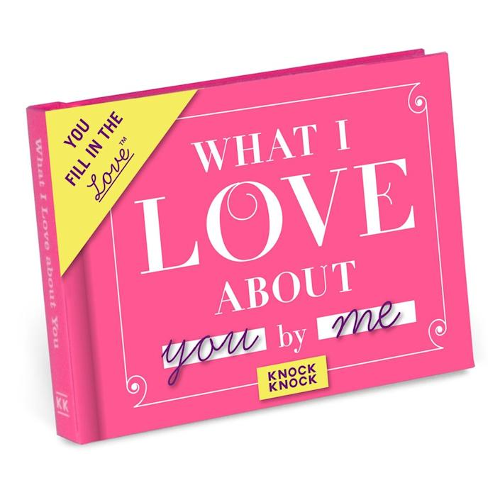 Knock Knock What I Love about You Book
