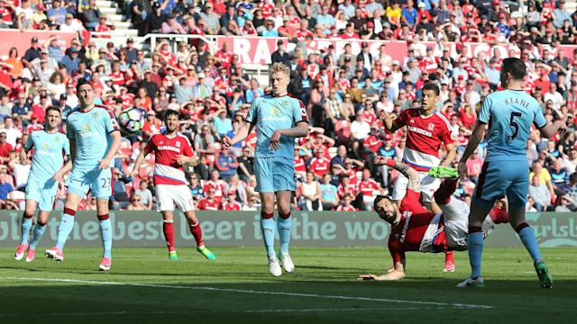 Relegation-threatened Middlesbrough made it 14 Premier League games without a win as they played out a 0-0 draw with Burnley.