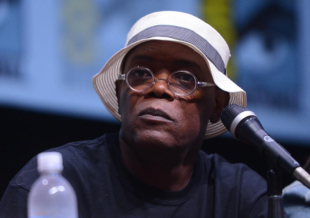 "SAN DIEGO, CA - JULY 20:  Actor Samuel L. Jackson speaks onstage at Marvel Studios ""Thor: The Dark World"" and ""Captain America: The Winter Soldier"" during Comic-Con International 2013 at San Diego Convention Center on July 20, 2013 in San Diego, California.  (Photo by Albert L. Ortega/Getty Images)"