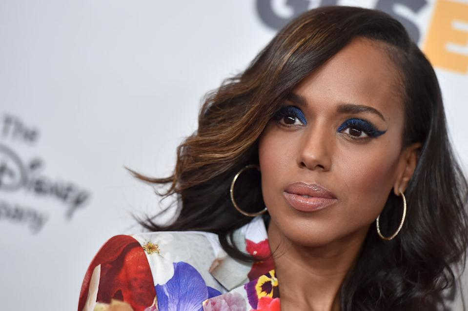Kerry Washington has shared a series of bare-faced selfies, pictured in October 2017. (Getty Images)