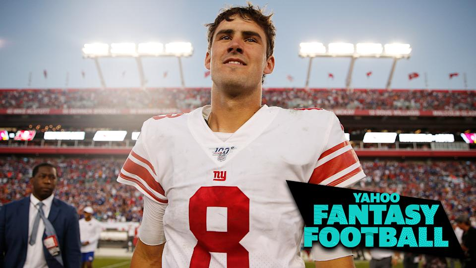 New York Giants QB Daniel Jones had an impressive debut game against the Tampa Bay Buccaneers. (Photo by Michael Reaves/Getty Images)