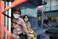 LUCKNOW, INDIA - JUNE 8: Travellers seen inside a Mumbai bound train at Aishbagh Railway Station, on June 8, 2020 in Lucknow, India. (Photo by Dheeraj Dhawan/Hindustan Times via Getty Images)