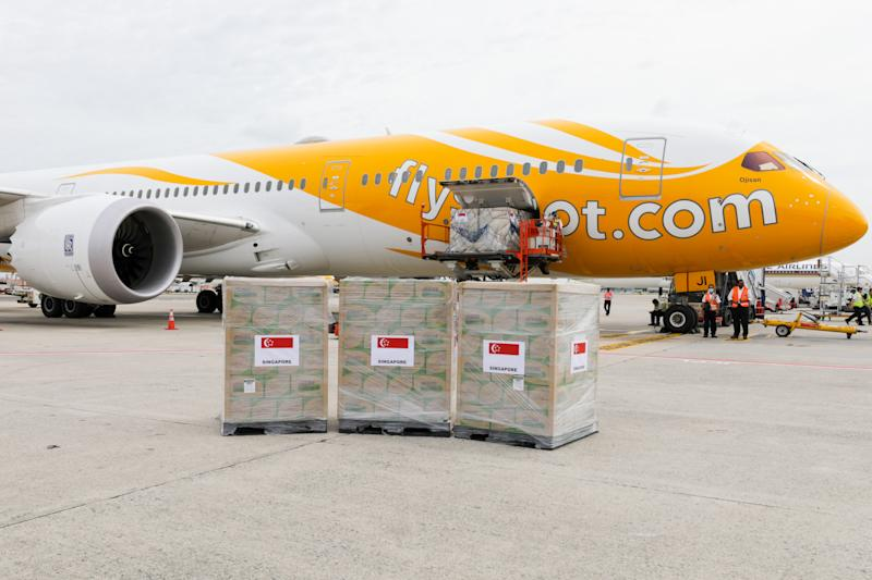 The humanitarian assistance, which will be flown from Singapore to Wuhan, includes medical supplies and diagnostic test kits for the 2019 novel coronavirus.
