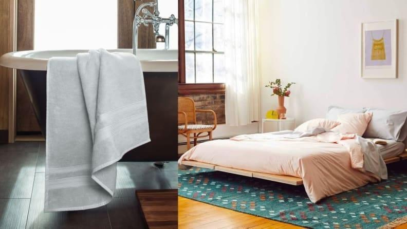 Freshen up your towels, bedding, and linens for the warmer months.