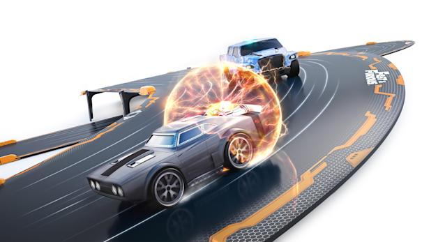 "<p>Channel your inner Vin Diesel with this next-gen racing system combining smartphone-controlled robotic cars and a video game based on the 'Fast & Furious' ecosystem. Build your track, download the app, and stage an epic street-race battle in your living room. <a href=""https://theringer.com/fast-furious-movies-corona-beer-character-development-product-placement-f6bbdfc765a0"" rel=""nofollow noopener"" target=""_blank"" data-ylk=""slk:Coronas not included"" class=""link rapid-noclick-resp"">Coronas not included</a>.<br><strong>Buy: <a href=""https://www.toysrus.com/product?productId=133301656"" rel=""nofollow noopener"" target=""_blank"" data-ylk=""slk:Toys ""R"" Us"" class=""link rapid-noclick-resp"">Toys ""R"" Us</a></strong> </p>"