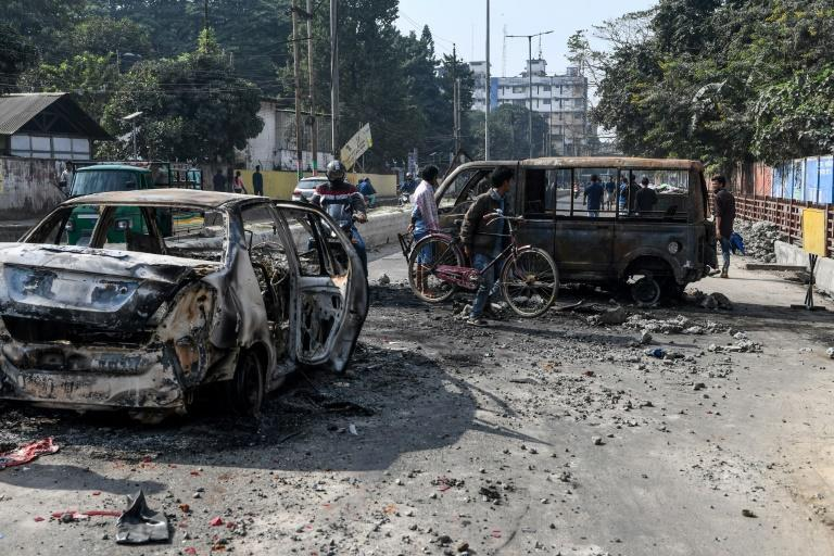 Two people were shot dead by police and 26 hospitalised in northeast India as protests against a new citizenship law rocked the region