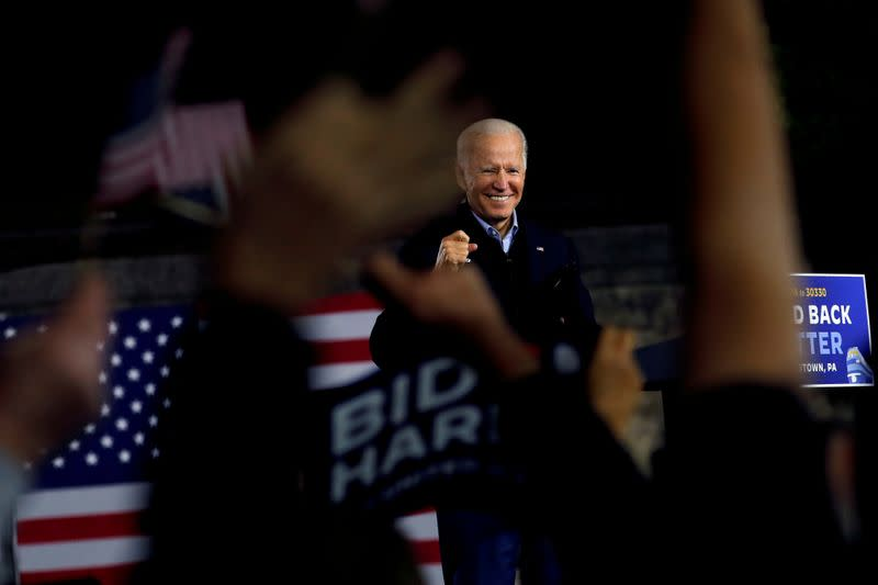 FILE PHOTO: U.S. Democratic presidential candidate and former Vice President Joe Biden campaigns in Johnstown