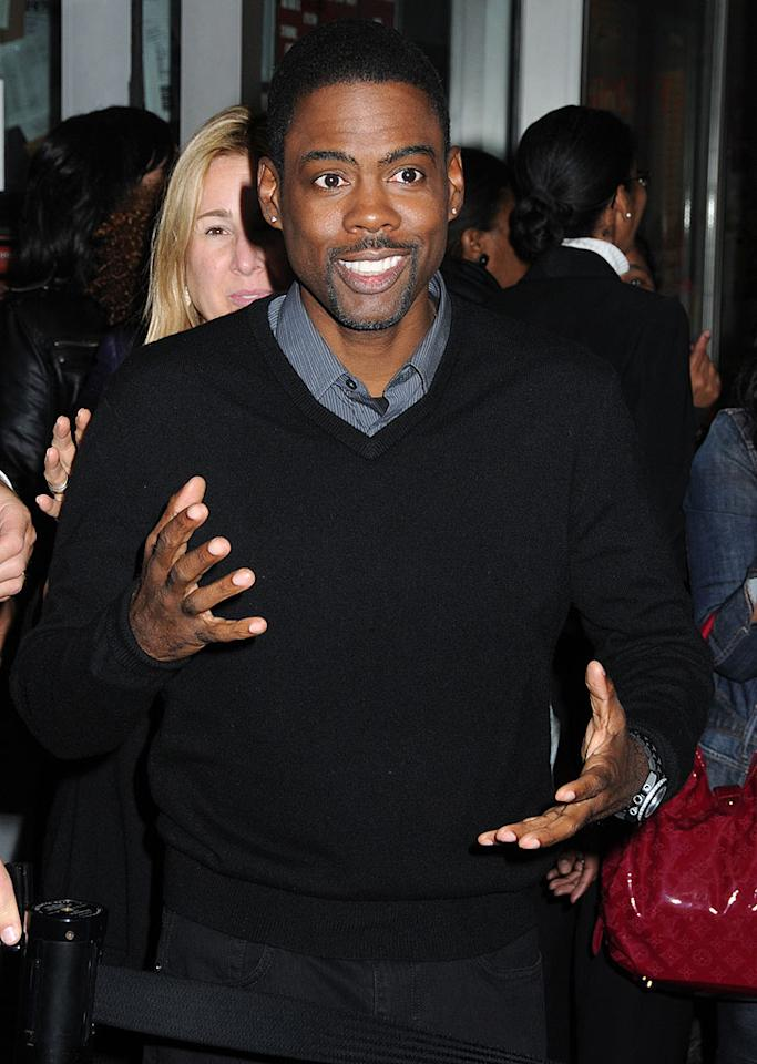 "While Nicole was being hit by a paparazzo, Chris Rock was getting hit with a lawsuit. Filmmaker Regina Kimbell claims the funnyman's new documentary, ""Good Hair,"" is a ripoff of her own flick, ""My Nappy Roots,"" which she allegedly once screened for Rock. Janet Mayer/<a href=""http://www.splashnewsonline.com"" target=""new"">Splash News</a> - October 5, 2009"