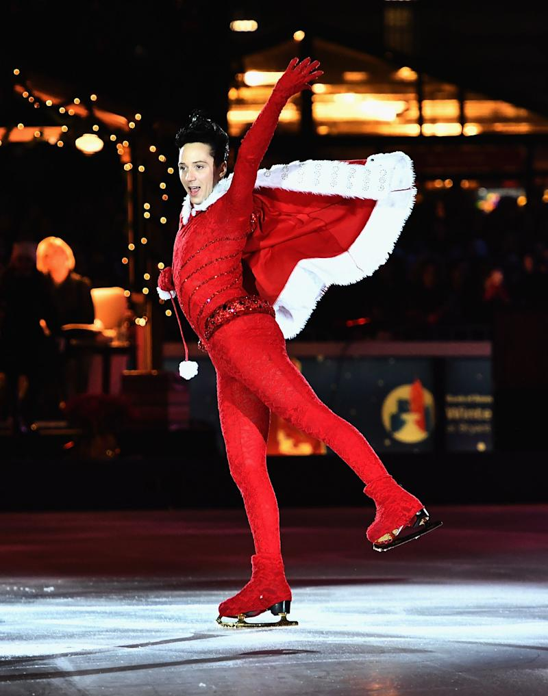 Skating during the Bank of America Winter Village at Bryant Park's Annual Tree Lighting Skate-tacular on Dec. 1, 2017, in New York City.