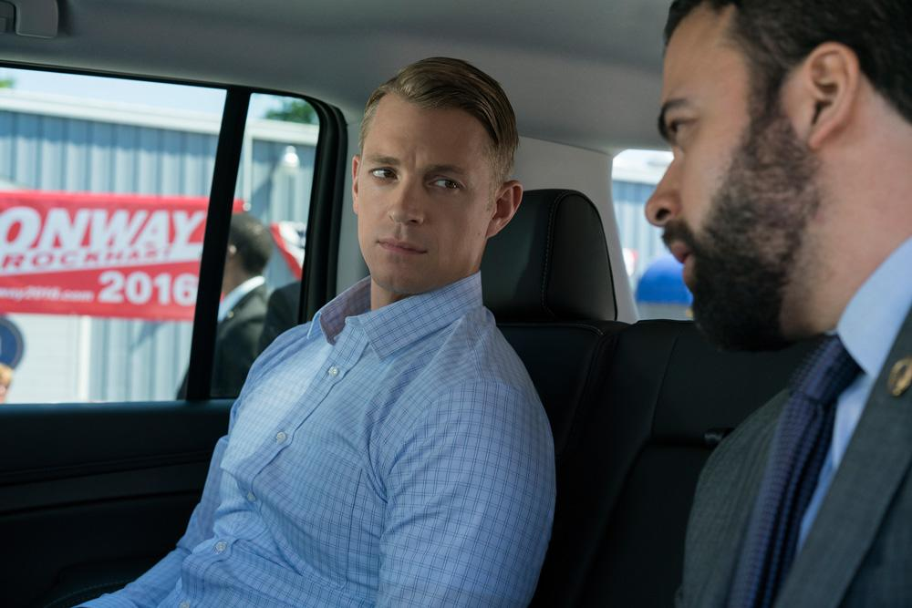 <p>Joel Kinnaman as Will Conway in Netflix's <em>House of Cards</em>. (Photo Credit: Netflix) </p>