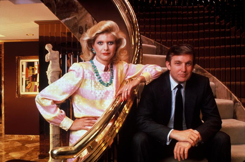Donald and Ivana Trump circa 1990.