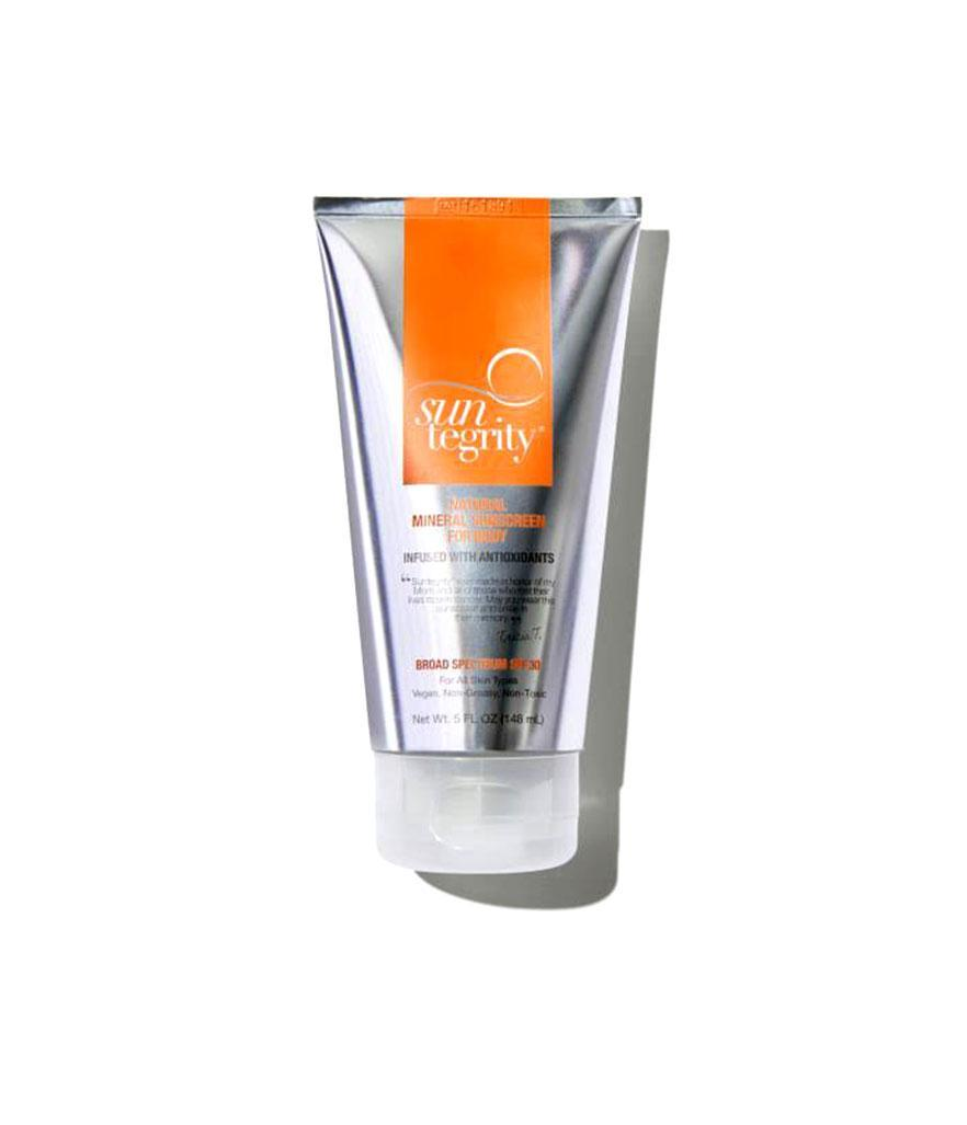 "<p>Mineral Sunscreen SPF 30, $36, <a href=""https://follain.com/p/suntegrity-mineral-sunscreen-spf-30#610585935927"" rel=""nofollow noopener"" target=""_blank"" data-ylk=""slk:follain.com"" class=""link rapid-noclick-resp"">follain.com</a> </p>"