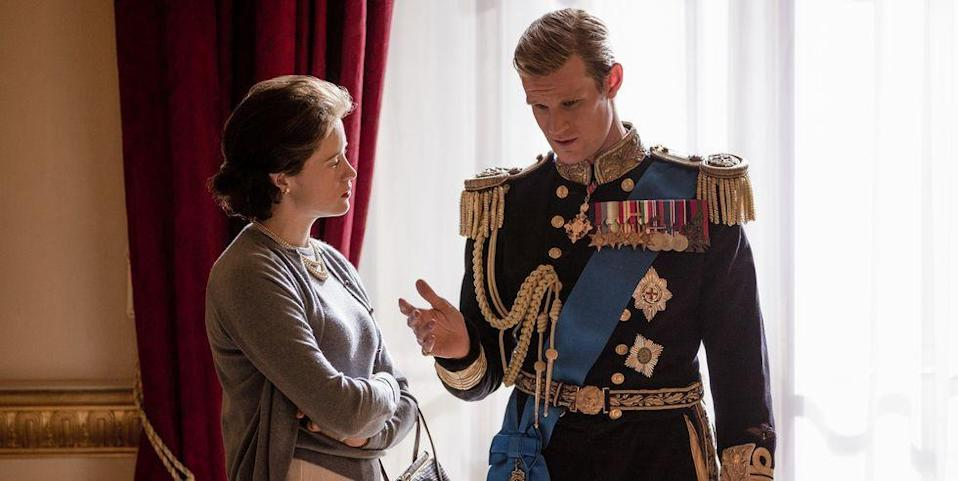 """<p>In 2018, <em>The Crown</em>'s producers <a href=""""https://www.harpersbazaar.com/culture/film-tv/a19421858/the-crown-claire-foy-matt-smith-gender-pay-gap/"""" rel=""""nofollow noopener"""" target=""""_blank"""" data-ylk=""""slk:revealed at a panel"""" class=""""link rapid-noclick-resp"""">revealed at a panel</a> that Matt Smith, who played the queen's husband, Prince Philip, was paid more than Claire Foy, who portrayed the monarch herself. The pay disparity was reportedly due to the fact that Smith was more popular when the show began, thanks to his days on <em>Doctor Who.</em> Since the show began, Foy has won Golden Globe, Emmy, and Screen Actors Guild Awards for her performance as Queen Elizabeth II.</p><p><em>The Crown</em>'s production company, Left Bank Pictures, publicly apologized to the actors for the differences in pay. It was reported months later that Foy would receive about £200,000 ($274,000) in back pay, but the actress <a href=""""https://www.harpersbazaar.com/uk/culture/culture-news/a22582948/claire-foy-gender-pay-gap-back-pay-the-crown/"""" rel=""""nofollow noopener"""" target=""""_blank"""" data-ylk=""""slk:later clarified"""" class=""""link rapid-noclick-resp"""">later clarified</a> that the news was """"not quite correct."""" </p>"""