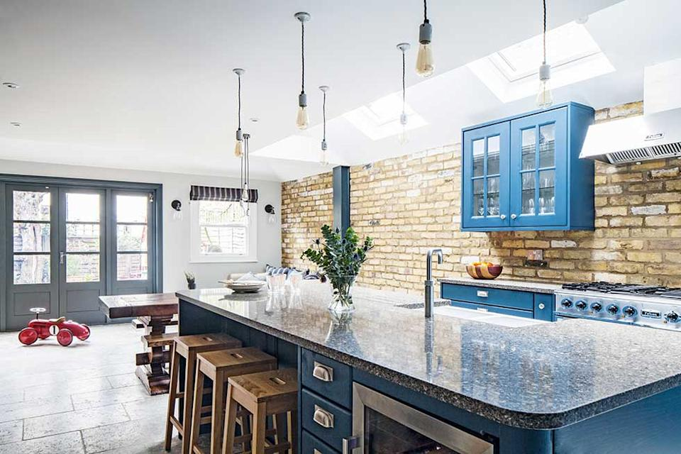 Industrial style kitchen extension in london