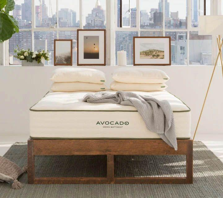 """<p><strong>Avocado</strong></p><p>avocadogreenmattress.com</p><p><strong>$1399.00</strong></p><p><a href=""""https://go.redirectingat.com?id=74968X1596630&url=https%3A%2F%2Fwww.avocadogreenmattress.com%2Fshop%2Favocado-mattress&sref=https%3A%2F%2Fwww.goodhousekeeping.com%2Fhome-products%2Fg34383668%2Fbest-organic-mattresses%2F"""" rel=""""nofollow noopener"""" target=""""_blank"""" data-ylk=""""slk:Shop Now"""" class=""""link rapid-noclick-resp"""">Shop Now</a></p><p>Not only is the Avocado Green Mattress one of the best mattresses you can buy, it's also certified by GOTS so you know the entire manufaturing process follows strict standards. <strong>Made with organic cotton, wool and latex plus coils for support, our panel said it's both comfortable and supportive</strong> and that they sleep well on it night after night.</p><p>It's pricey, but our panel also said it was well worth the cost. In fact, one even us """"For the price I am just blown away."""" You can opt to add a pillow top for a couple hundred extra if you prefer a soft and plush surface, and the brand also makes a <a href=""""https://go.redirectingat.com?id=74968X1596630&url=https%3A%2F%2Fwww.avocadogreenmattress.com%2Fshop%2Favocado-vegan-mattress&sref=https%3A%2F%2Fwww.goodhousekeeping.com%2Fhome-products%2Fg34383668%2Fbest-organic-mattresses%2F"""" rel=""""nofollow noopener"""" target=""""_blank"""" data-ylk=""""slk:vegan version"""" class=""""link rapid-noclick-resp"""">vegan version</a> without wool and an <a href=""""https://go.redirectingat.com?id=74968X1596630&url=https%3A%2F%2Fwww.avocadogreenmattress.com%2Fshop%2Forganic-latex-foam-mattress&sref=https%3A%2F%2Fwww.goodhousekeeping.com%2Fhome-products%2Fg34383668%2Fbest-organic-mattresses%2F"""" rel=""""nofollow noopener"""" target=""""_blank"""" data-ylk=""""slk:entirely latex version"""" class=""""link rapid-noclick-resp"""">entirely latex version</a> without springs.</p>"""