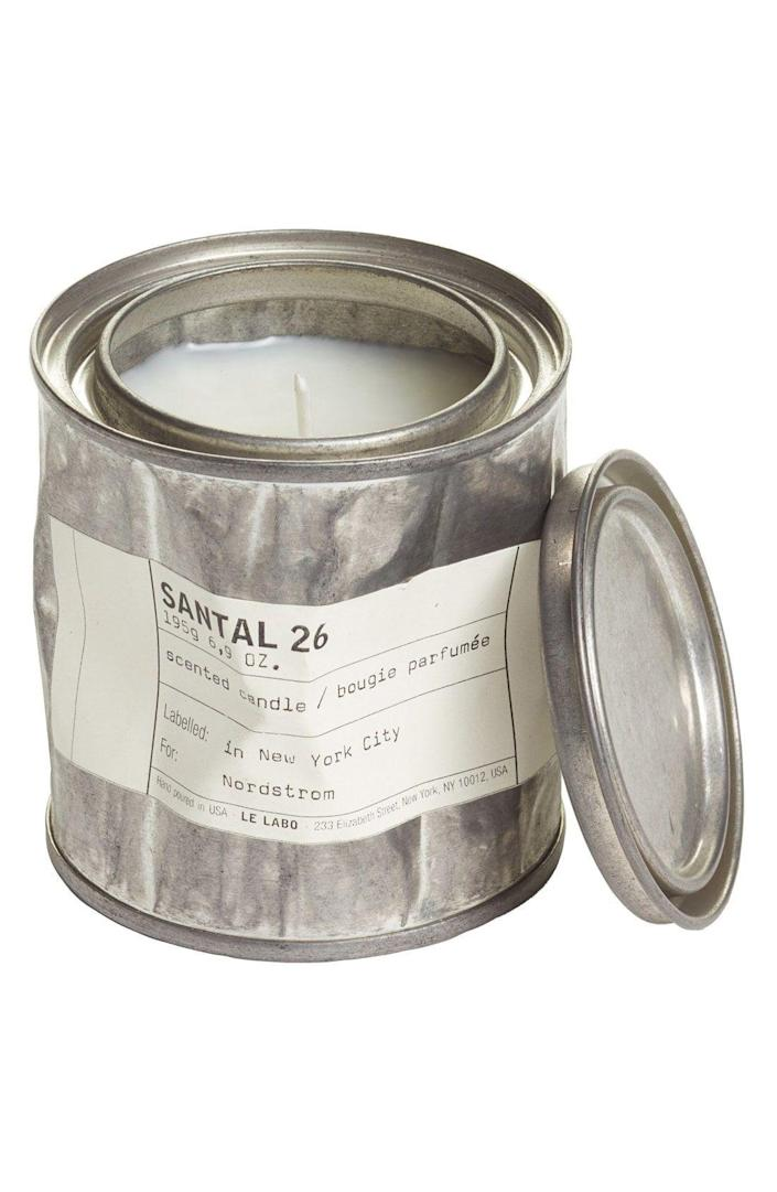 """<p>Le Labo's vintage tin filled with the brand's fan-favorite amber, coco, vanilla, cedar, spices, musk, and sandalwood fragrance is <em>the</em> unique gift for a fashionable friend.</p><br><br><strong>Le Labo</strong> 'Santal 26' Vintage Tin Candle, $65, available at <a href=""""https://shop.nordstrom.com/s/le-labo-santal-26-vintage-tin-candle/4344315?origin=category-personalizedsort&breadcrumb=Home%2FBrands%2FLe%20Labo%2FAll%20Le%20Labo&color=none"""" rel=""""nofollow noopener"""" target=""""_blank"""" data-ylk=""""slk:Nordstrom"""" class=""""link rapid-noclick-resp"""">Nordstrom</a>"""