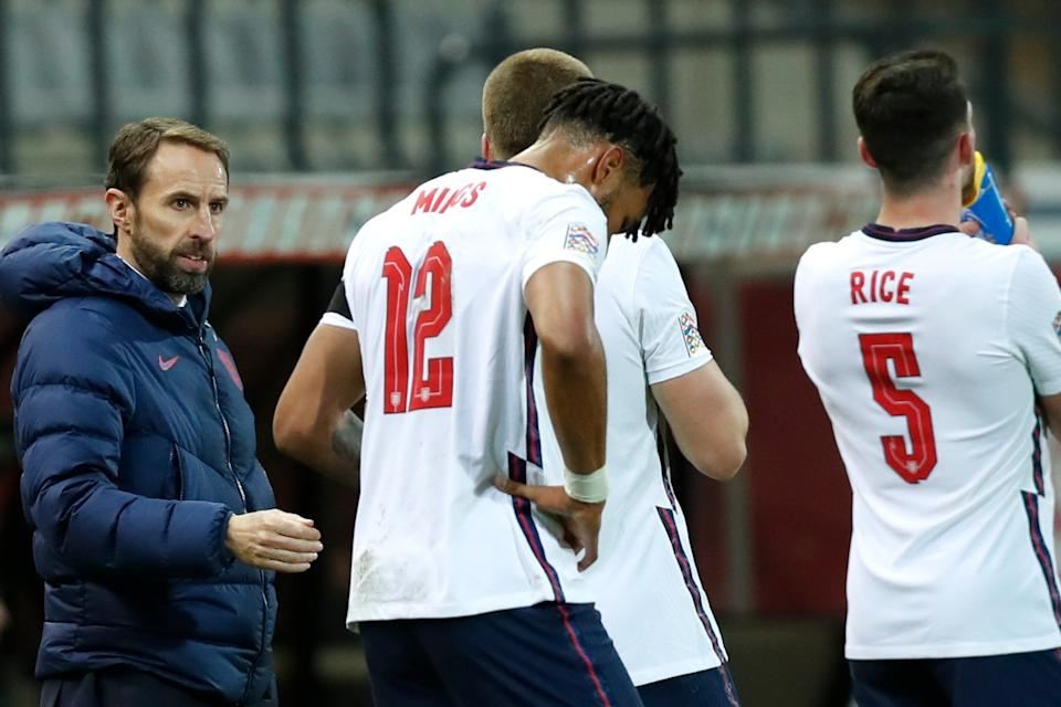 <p>Southgate complained of club managers putting pressure on players not to play against Iceland at Wembley</p>AP