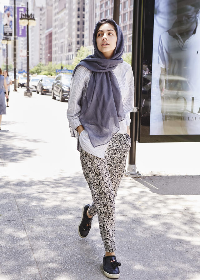 <p><b>Complete this sentence: Modest fashion is … </b> knowing that your body is yours and you don't have to prove s*** to nobody.<br>(Photo: Jamie Berg for Yahoo Lifestyle) </p>