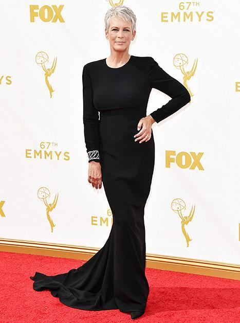 Jamie Lee Curtis at the Emmys on September 20, 2015