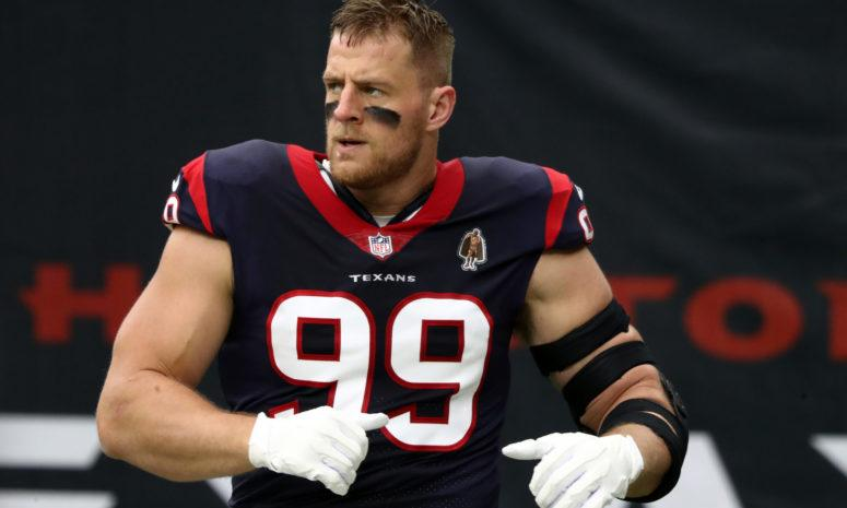 Houston Texans star defensive lineman JJ Watt.