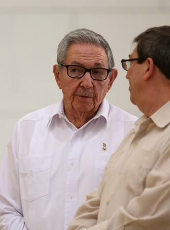 FILE PHOTO: Cuba's First Secretary of the Communist Party and former President Raul Castro attends an event with Russian Foreign Minister Sergei Lavrov (not pictured) at the Capitol, in Havana