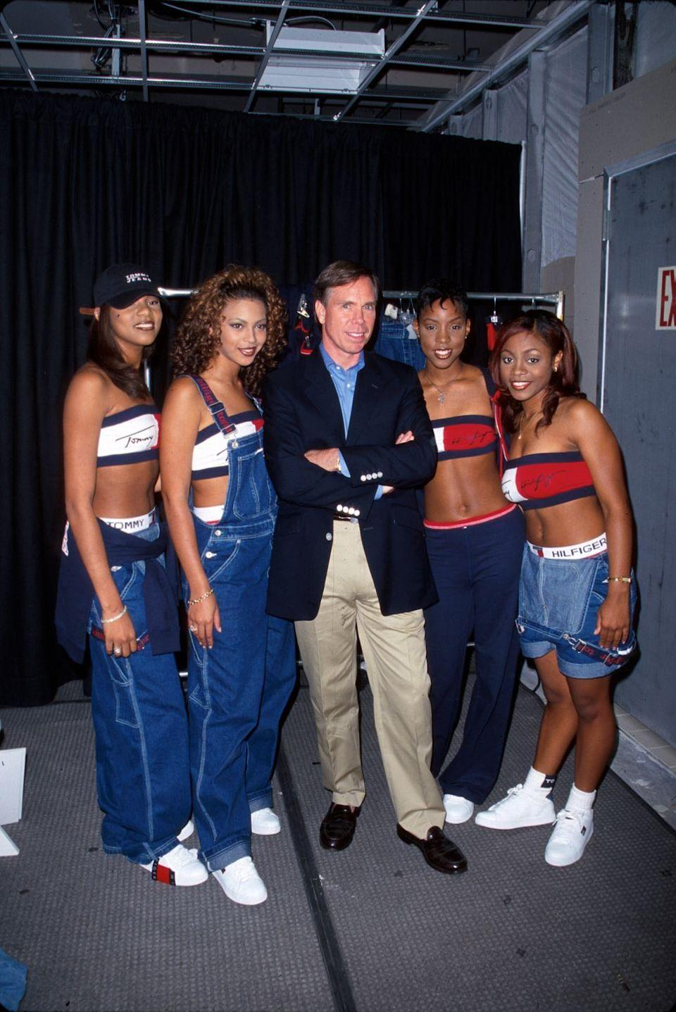 <p>Tommy Hilfiger jeans, seen here on Destiny's Child, were such A Thing in the late '90s. (As were denim overalls with crop tops underneath.)</p>