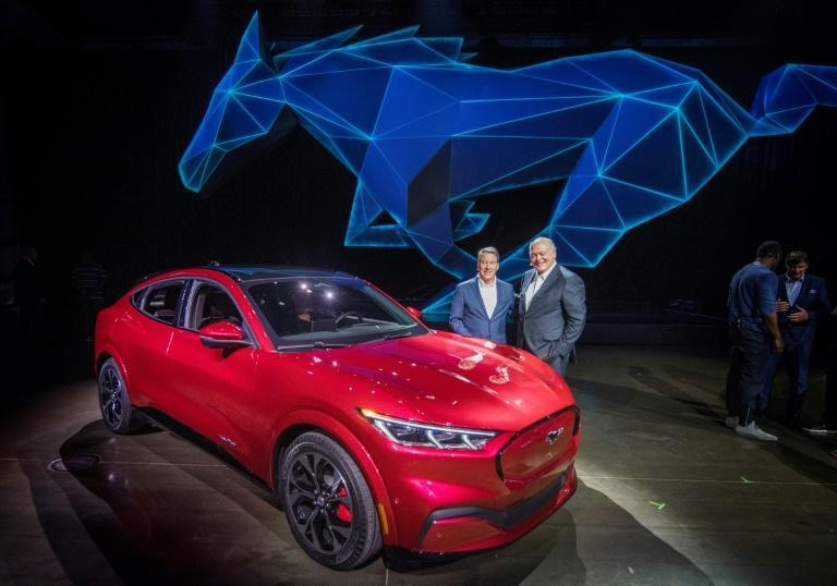 The repurposed Ford assembly plant in Oakville, Ontario will produce five new electric vehicles such as this all-electric Mustang Mach-E unveiled in California in November 2019