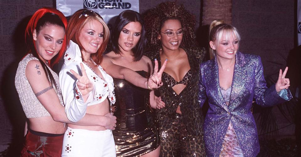 Victoria Beckham's Spice Girls look in the 90s (Getty)