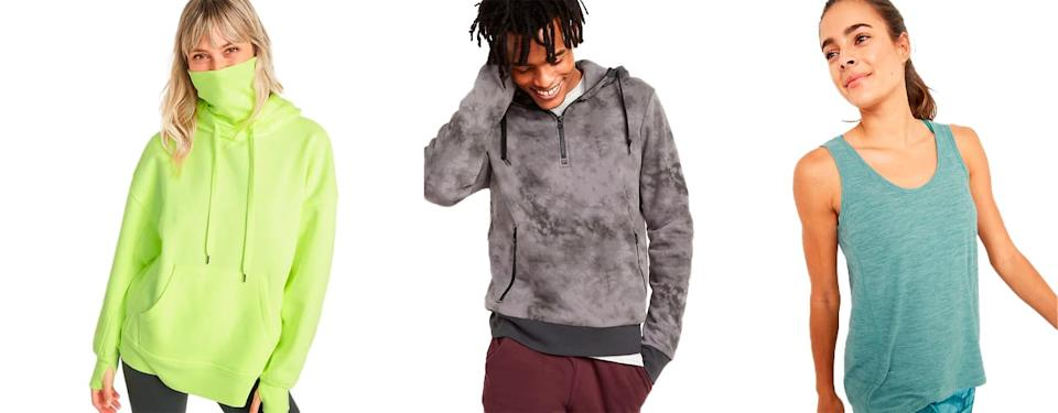 inbody old navy sports activewear sweater shirts