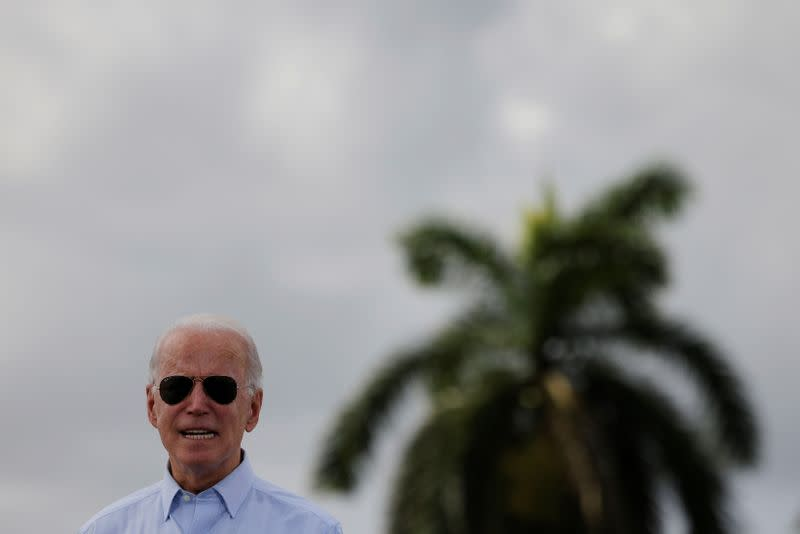 Democratic U.S. presidential nominee Biden campaigns in Coconut Creek