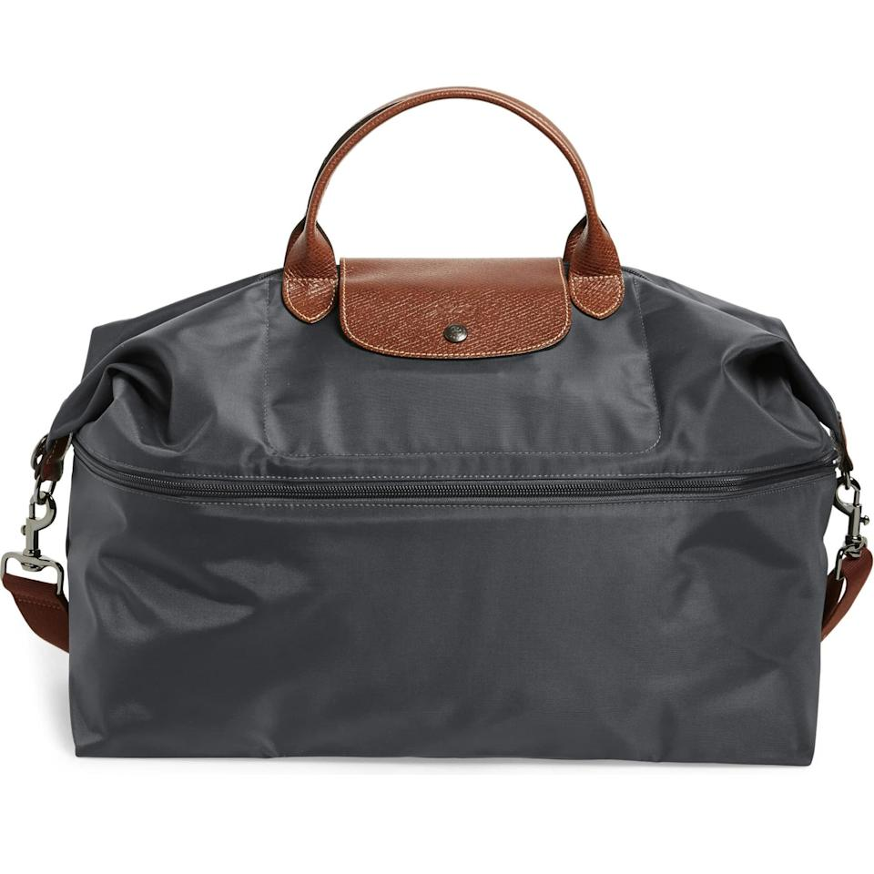 "<p>This sign loves to travel. That may mean a spontaneous trip to Dubai or a weekend curled up at their lover's house. Regardless of how far away they're going, help them travel in style with this classic and useful travel duffel from Longchamp. </p> <p><strong>$255</strong> (<a href=""https://www.bloomingdales.com/shop/product/longchamp-le-pliage-expandable-travel-duffel-nylon-weekender?ID=641277"" rel=""nofollow"" target=""_blank"">Shop Now</a>)</p>"