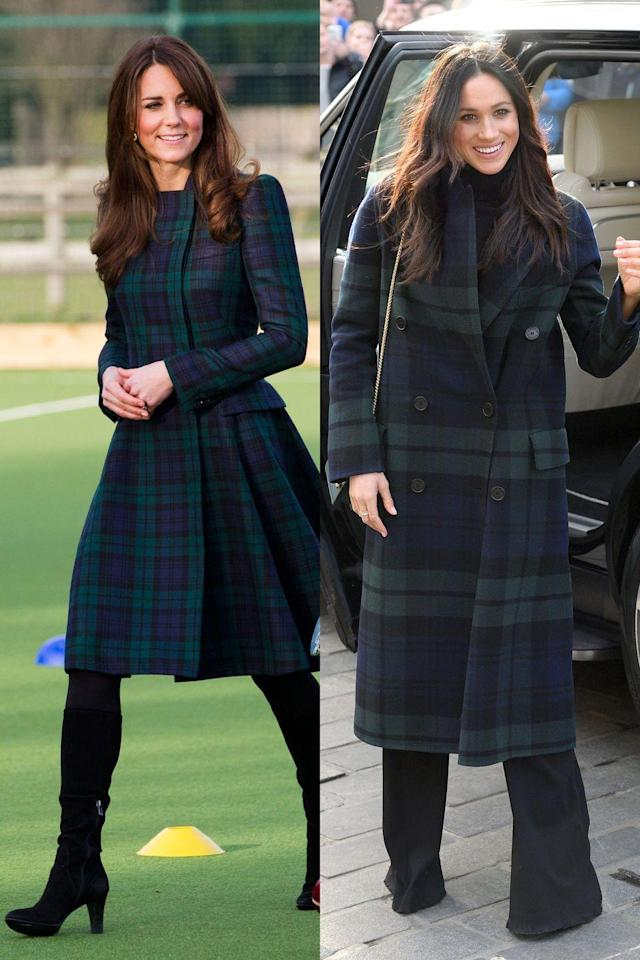 """<p>There is literally nothing more British than a tartan jacket, and it's obviously versatile considering Kate wore hers to play field hockey at her alma mater, and <a href=""""https://www.cosmopolitan.com/entertainment/a17809713/prince-harry-meghan-markle-scotland-royal-visit/"""" rel=""""nofollow noopener"""" target=""""_blank"""" data-ylk=""""slk:Meghan wore hers"""" class=""""link rapid-noclick-resp"""">Meghan wore hers</a> during her first official visit to Scotland.</p>"""