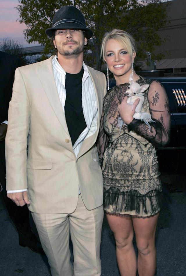 The way they were: Kevin and Britney (Photo: Getty Images)