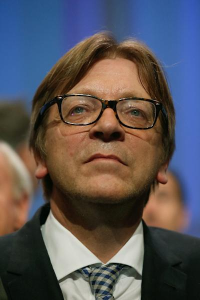 Guy Verhofstadt, seen on May, 2014, in La Plaine-Saint-Denis, France, who is head of the Liberal group in the European Parliament and a former Belgian PM, is on a blacklist issued by Moscow of EU politicians barred from Russia (AFP Photo/Thomas Samson)