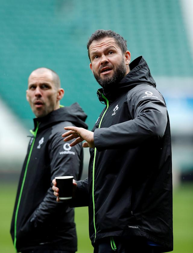 Rugby Union - Ireland Captain's Run - Twickenham Stadium, London, Britain - March 16, 2018 Ireland defence coach Andy Farrell during the captains run Action Images via Reuters/Andrew Couldridge